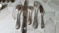 French Silver plated Flatware Set Service Dinner 35 Pieces