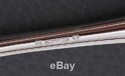 French silverplate Alfenide Christofle Pompadour pattern Fish set 26 pcs