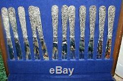 GODINGER OLDE BOUQUET 65 Piece Set in Box Silverplate Flatware