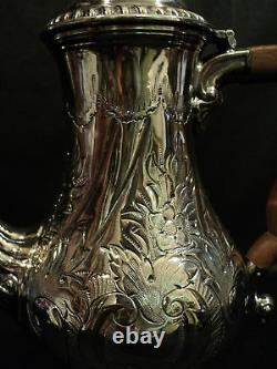 GORGEOUS 19tH C. ELLIS BARKER SILVER PLATED 3-PC COFFEE SET