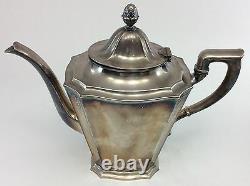 GORHAM SILVERPLATE Antique 1929 ART NOUVEAU COFFEE/TEA SET Y311 Tray Y301 Y303