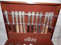 Godinger Olde Bouquet Silverplate Flatware Set 64 Pieces with Original Box