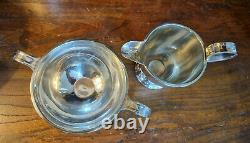 Good Vintage Silver Plated EPNS Art Deco Four Piece Tea Set by Roberts & Dore