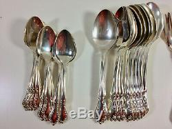 Gorham Silverplate Flatware 12 Place Setting + Extras, 74 Pieces, In Case Box