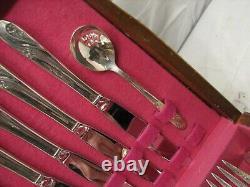Holmes & Edwards Inlaid IS Romance Silverplate Flatware Set 62 pcs Flatware D