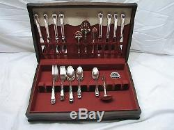 Holmes & Edwards Silver Plate Flatware Set May Queen 48 pcs