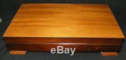 Holmes Edwards Spring Garden Silverplate Flatware 52pc Chest / Box Post-1940