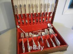 International / 1847 Rogers Silver First Love 80 Pieces Flatware Set