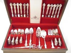 International DeepSilver 83 Piece Silverplate Flatware Set withWooden Storage Box