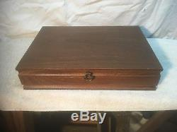 International silver co Silverplate Silverware 50pc Set with Wooden Case Box