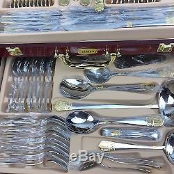 Kaiserkoch-Germany Versace New 84 Pcs Dinning Set 12 Wooden Case Flatware