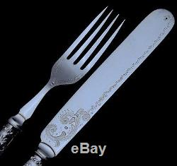LOVELY c1890 VICTORIAN 24pc MOTHER OF PEARL & SILVER PLATE LUNCHEON CUTLERY SET