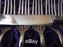 Landers Frary Clark Mother of Pearl Handle 12 Pc Luncheon SetSterling Ferrules