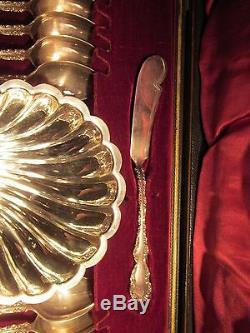 Late 1800's Sheffield Silverplate Lee & Wigfull 17PC HOSTESS SET Orig Box
