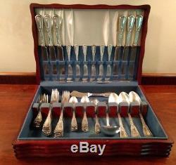 Louis XVI 1926 Reed&barton Silverplate Flatware Set 6 Settings +serving Utensils