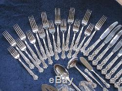 MAGNOLIA INSPIRATION 47pc 8Pl 1951 Rogers IS Silverplate Flatware Silverware Set