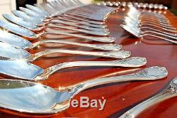 Magnificent Christofle Marly Silver Plated Flatware 48 Pcs in 12 Settings