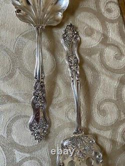 Moselle American International Silverplate Grape Flatware Set With Case Mono D