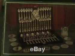 NEW Wm Rogers Silverplated Flatware Set 63pc NEW SEALED in case 12 place setting
