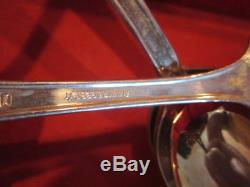 NICE Vintage Antique Wm Rogers Sectional IS Silver Ware Set w Case, Service 34