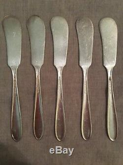 National Silver Co aa Narcissus silverplate 22 piece mixed set