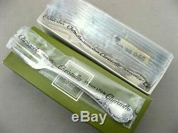 New Ware Christofle Marly Silverplated 12 Pastry Forks
