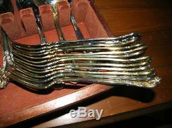 Nice Hardly Used Godinger Granmaster Silverplate set Service for 12 / 50 pc