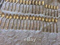 ONEIDA Community CORONATION Silverplate Flatware 63 pc. Set Service For 12