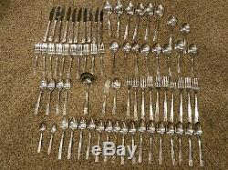 ONEIDA NOBILITY SILVER PLATE CAPRICE 71 PC SET 1937 Antique Silverware Flatware
