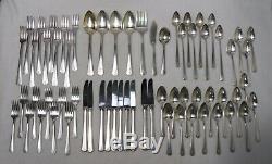 ONEIDA silver/silverplate DEAUVILLE 1929 pttrn 65pc Grille Set knife/fork/spoon