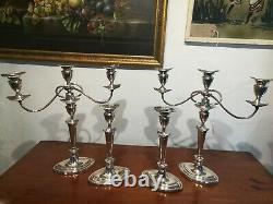 Old Sheffield Plate Antique 18th Century Georgian Set Candelabra & candlesticks