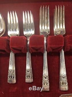 Oneida 52 Piece Silverplate Community Coronation Silverware Set For 8 Vtg & Box