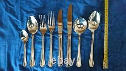 Oneida Balmoral 44 Cutlery Set with Hagerty Silver Guard Roll. Vintage, Retro