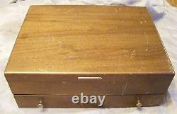 Oneida Comm. Enchantment Silverplate Flatware 71pc. Set Chest / Box Post-1940