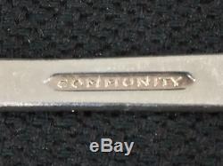 Oneida Community Coronation Art Deco Silverplate Flatware 55-Piece Set for 8