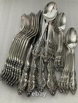 Oneida Community Silver Artistry Flatware Vintage Set Baroque Floral 28 Pieces