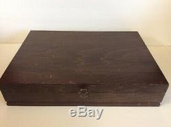 Oneida Community Silverplate 1971 Beethoven 37 pcs Flatware Set Excellent + Box