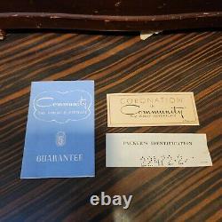 Oneida Community Silverplate Coronation Pattern Service 8 with Box 51 PCS Set