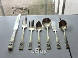 Oneida Community Silverplate Flatware Set Coronation, Service for 10 with extras
