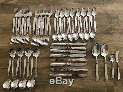 Oneida Community South Seas 1955 Silver Plate 52pc Service for 8 Flatware Set
