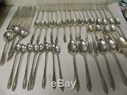 Oneida Community Tudor Plate Queen Bess II Flatware Set 65 pc Silverplate 1940s