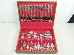 Oneida King James Silverplate Flatware Set 68 Pc Service For 12 No Case