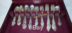 Oneida Rogers 1881 Baroque Rose 67 Piece Silverplate Flatware Set With Box