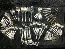Oneida Rogers 1881 Lilac Time Flatware Set 1957 Silver Plate Service for 8 70pcs