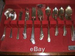 Oneida Silver Plate 1881 Rogers Del Mar Flatware/Silverware Set 71pc