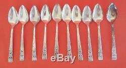 Oneida Silverplate CORONATION Community Plate 61 Pcs. Silverware 5 Serving SET