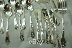Oneida Silverplate Flatware Tudor Plate Sweet Briar 80 Pc Set Silverware Vintage