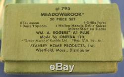 Oneida Wm. A. Rogers Silverplate Meadowbrook Flatware Set 72 pcs. Service for 11