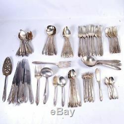 Onieda Community Tudor Silver Plate Flatware set for 8+ 99 pieces