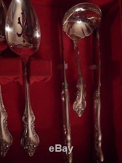 Orleans International Deep Silver set for 8 with 6 serving pcs